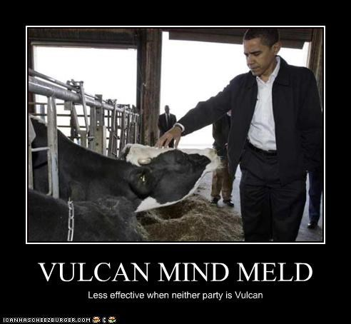 VULCAN MIND MELD Less effective when neither party is Vulcan