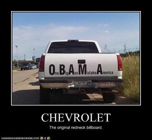 barack obama bumper stickers Protest Republicans truck - 3326343680
