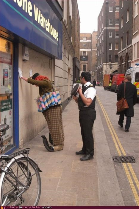 arrest clowning clowns finally police wtf