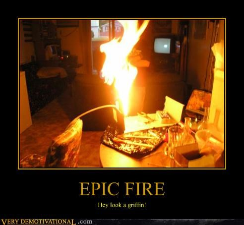 EPIC FIRE Hey look a griffin!