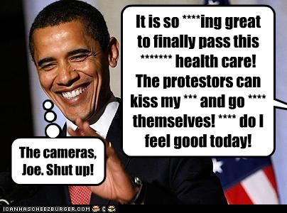 barack obama,gaffes,joe biden,president,shut up,swearing,vice president