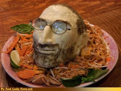 cheese food sculpture steve jobs