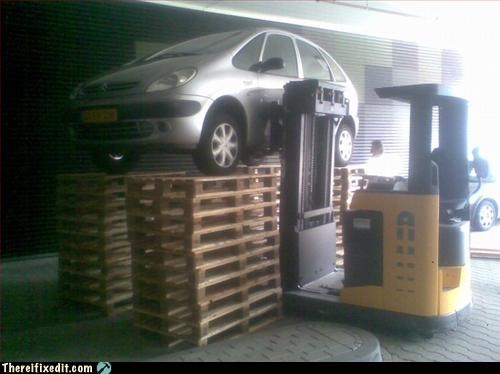 car construction equipment jack pallet