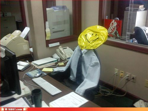 boredom clever comprehensive plan creativity in the workplace cubicle boredom decoy dummy foolproof ingenuity lazy mannequin prank Sad sass sculpture wiseass work smarter not harder - 3330900480