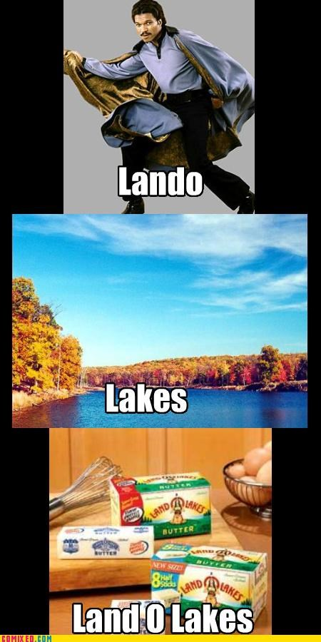 Bespin,butter,Cloud City,lakes,Land Of Lakes,Lando Calrissian,star wars