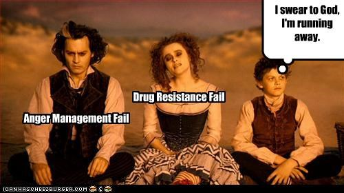 anger drugs family helena bonham-carter Johnny Depp Sweeney Todd - 3332838400