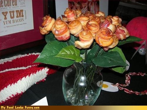 bacon,flowers