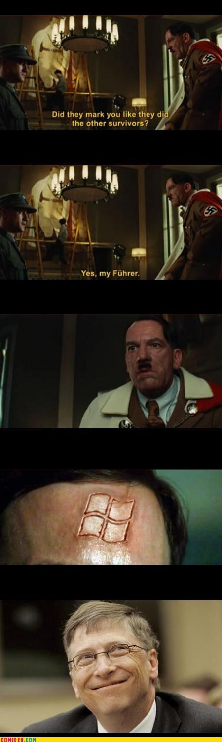 Bill Gates From the Movies Inglorious Basterds microsoft - 3334731264