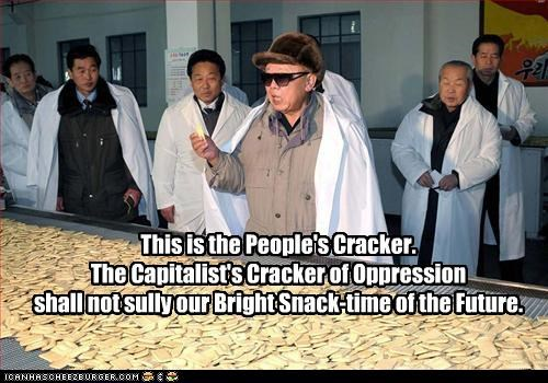 capitalism,cracker,dictator,food,Kim Jong-Il