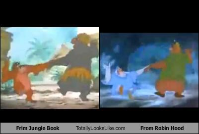 cartoons dance disney movies robin hood The jungle book - 3335321088