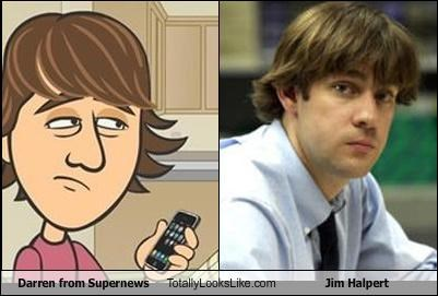 cartoons darren jim halpert supernews the office TV - 3336541952