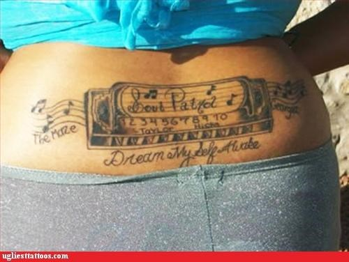musicians,tramp stamps,words