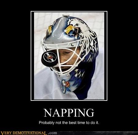 puck hockey nap time sleeping - 3337622016