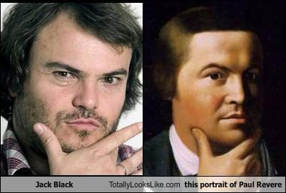 actor jack black painting paul revere portrait