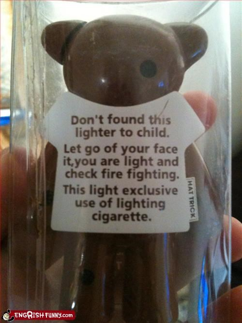 bear cigarette lighter rambling wtf - 3338313472