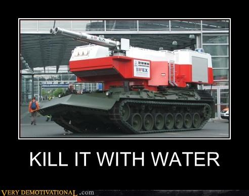 wtf water Kill It With Fire tank - 3338647040