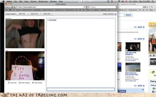 Chat Roulette curse guy lady fun bags tatas - 3339834368