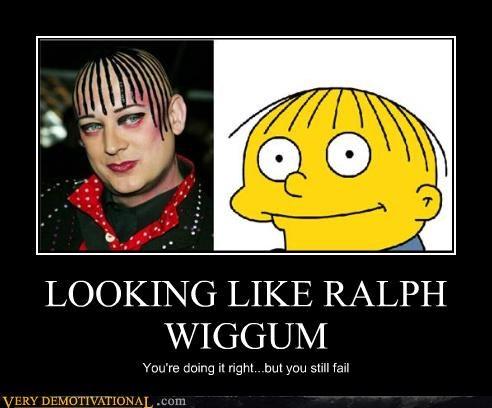 look alike Ralph Wiggum boy george - 3342057472