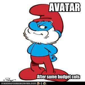 Avatar budget Papa Smurf smurfs - 3342554112