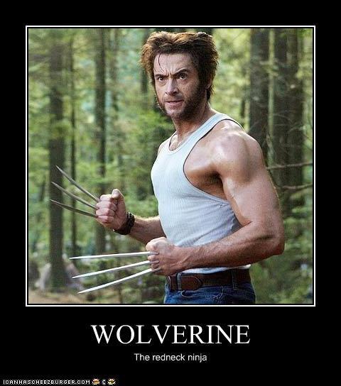 hugh jackman ninjas redneck wolverine x men - 3344372992
