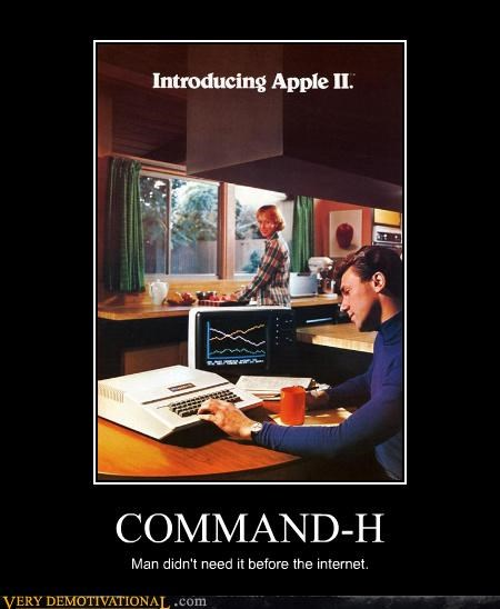 nerds computer command-h apple