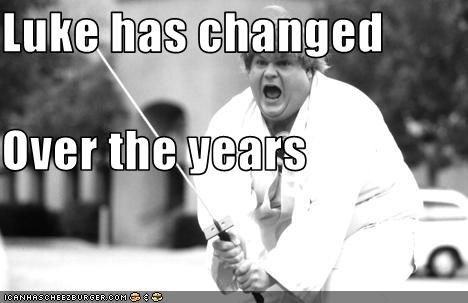 beverly hills ninja,chris farley,fat,light saber,luke skywalker,sci fi,star wars,swords