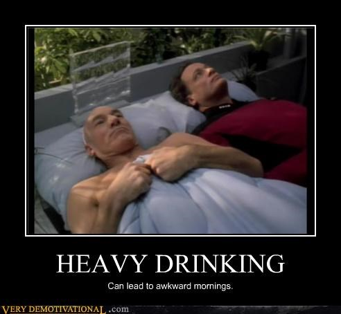 drunk,Captain Picard,Star Trek,Q