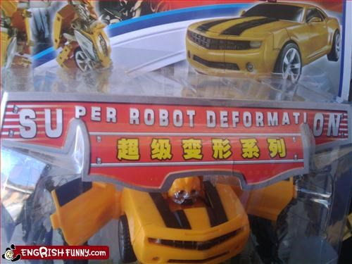 Bumblebee car engrish toy transformers - 3346504192