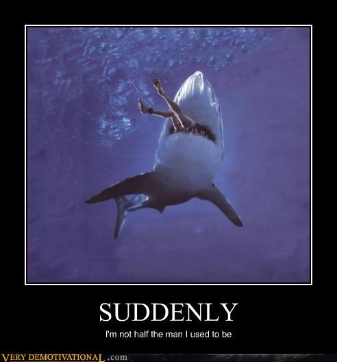 demotivational getting eaten hilarious sharks STP sucks Terrifying - 3346664704