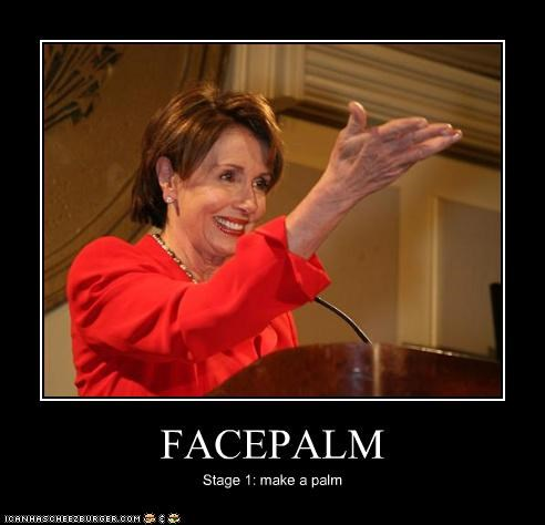 facepalm,Nancy Pelosi