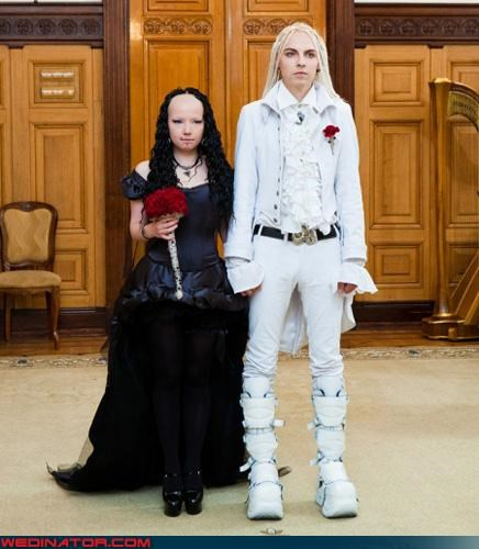 Crazy Brides crazy groom draco malfoy fashion is my passion fivehead bride goth Harry Potter scary were-in-love Wedding Themes wtf - 3347190272