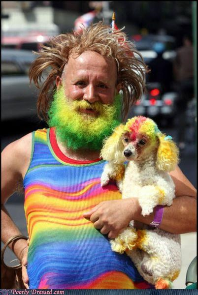 beard dirty hippies dont-drag-the-dog-into-this green hair yellow hair - 3347249664