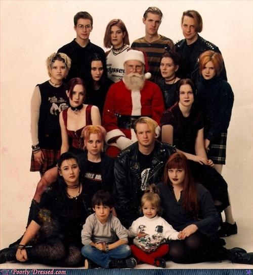 family photo hard rock santa wtf