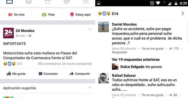 facebook reacciona error redaccion