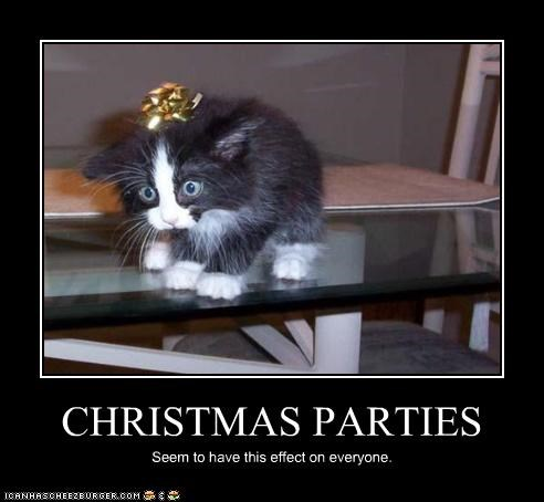 CHRISTMAS PARTIES Seem to have this effect on everyone.