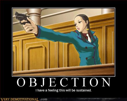 phoenix wright,gun,objection