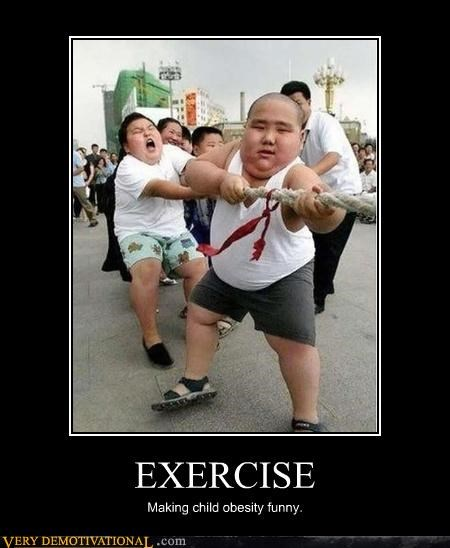 EXERCISE Making child obesity funny.