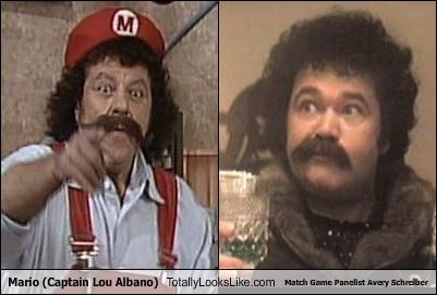 Mario (Captain Lou Albano) Totally Looks Like Match Game Panelist Avery Schreiber