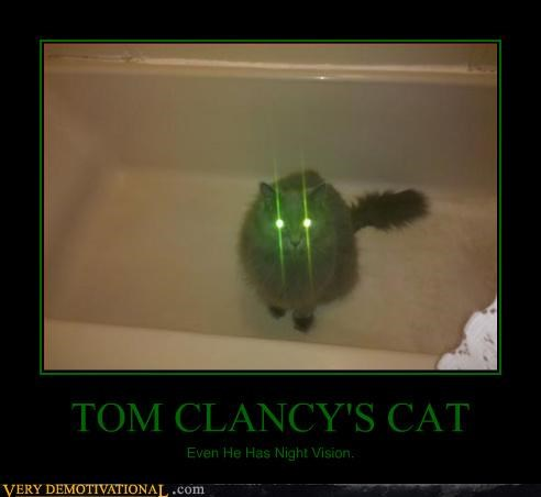 TOM CLANCY'S CAT Even He Has Night Vision.