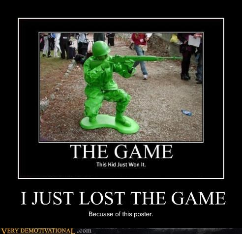 the game,army man,lost