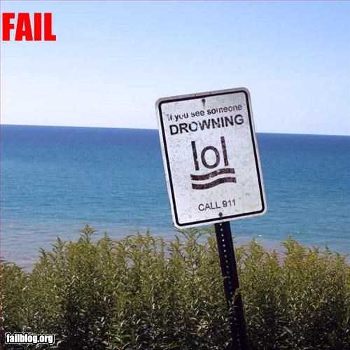 drowning failboat Hall of Fame lol sad face sign - 3353054464
