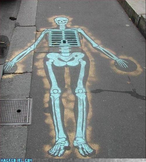 on the street stencil