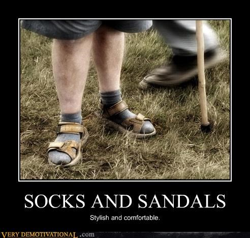 SOCKS AND SANDALS Stylish and comfortable.