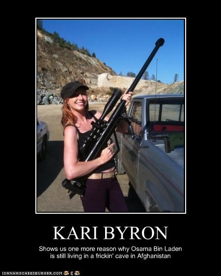 KARI BYRON Shows us one more reason why Osama Bin Laden is still living in a frickin' cave in Afghanistan