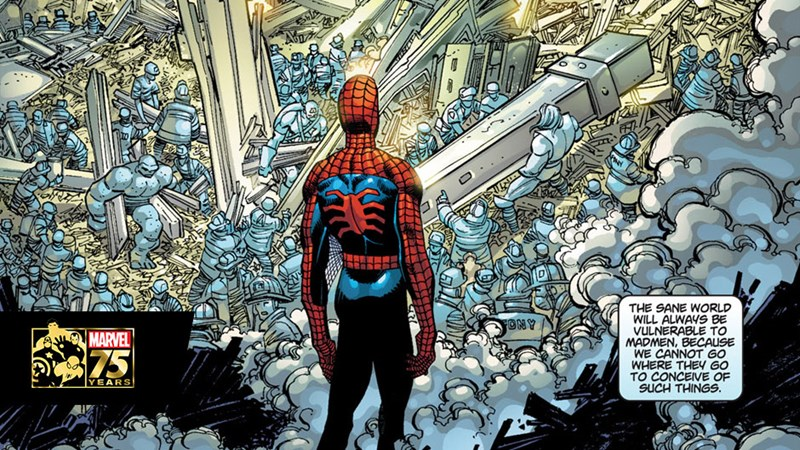 Spider-Man comic in honor of the heroes who lost their lives on September 11th, 9/11, never forget.