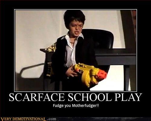 elementary school kids play Pure Awesome scarface the media - 3355873536