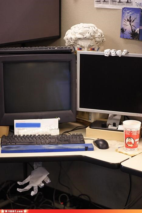 art awesome boredom clever creativity in the workplace cubicle boredom cubicle prank ergonomics gross pervert prank sass sculpture Terrifying - 3355889408