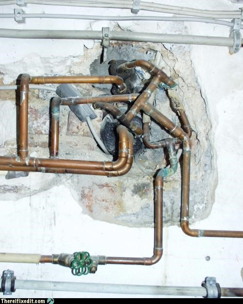 knot mess pipes tangled water bill