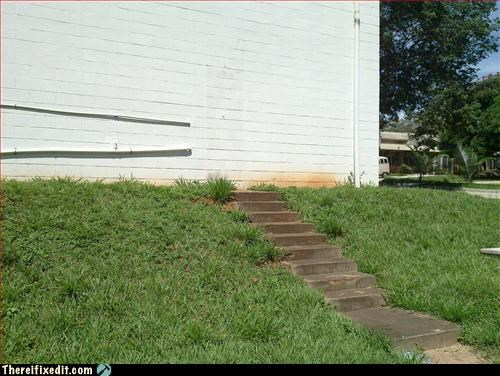 Mission Improbable nowhere siding steps wait wut