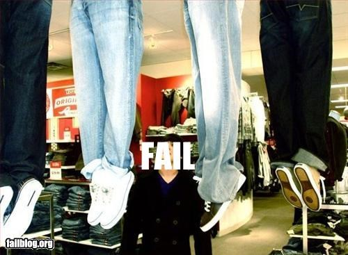 bad idea clothes failboat hanged jeans shoes - 3356980224